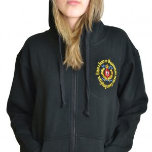 Mariinsky Fitted Hooded Full Zip Embroidered Jacket